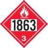 """Gammon GTP-2135-13, Aviation Fuel, 1863 DOT Marker Flammable Decal, 3M, 10,3/4"""" Square"""