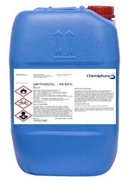 Methanol, 99.5% Virgin Grade 205L up to 1000L
