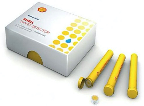 Shell Water Detector Capsules for Jet Fuels, Box of 80 Capsules