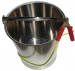 Fuel Sampling Bucket, Stainless Steel with Bottom Band, Fitted With Grounding Cable and RACO Clip. 10L, 12L and 15L