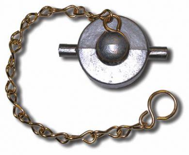 "Aluminium Filler / Fill Point Cap with Chain, 2"" BSP"