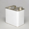 UN Approved, Rectangular Tinplate Drum, Lacquer Lined, 2.5L, with Security Seal Eyelet